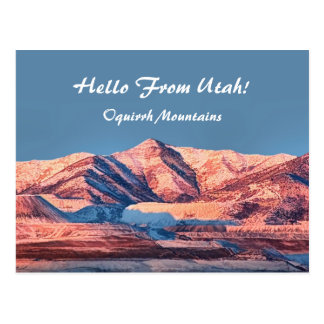 Utah Postcards Oquirrh Mountains First Snow Winter