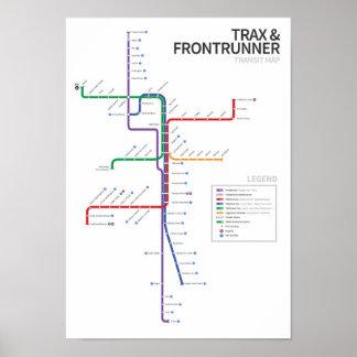 Utah Rail Transit Map Posters