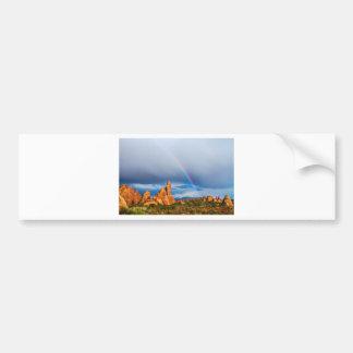 Utah Rainbow Car Bumper Sticker