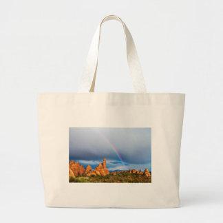 Utah Rainbow Large Tote Bag
