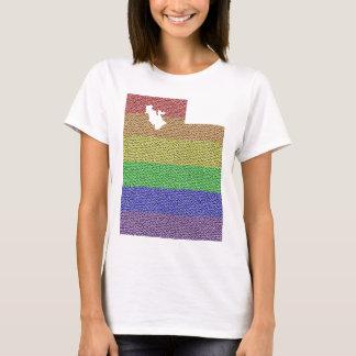Utah Rainbow Pride Flag Mosaic For Her T-Shirt