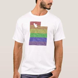 Utah Rainbow Pride Flag Mosaic For Him T-Shirt