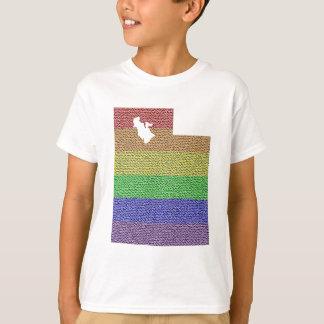 Utah Rainbow Pride Flag Mosaic For Kids T-Shirt