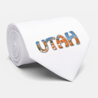 Utah - Red orange, blue sky, snow Neck Tie