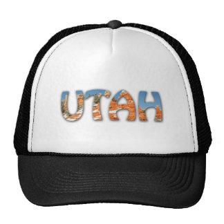 Utah, Red Orange, Blue Sky, Snow Trucker Hat