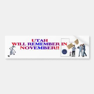 Utah - Return Congress To The People!! Bumper Sticker