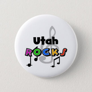 Utah Rocks Pinback Button