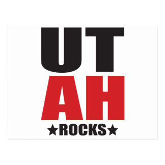 Utah Rocks! State Spirit Gifts and Apparel Postcard