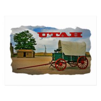 Utah rustic stagecoach postcard