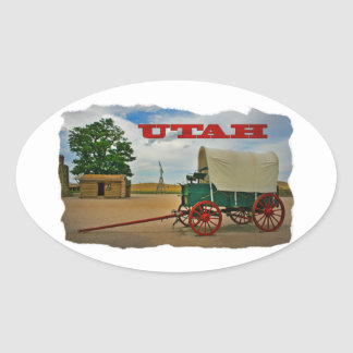 Utah rustic stagecoach stickers