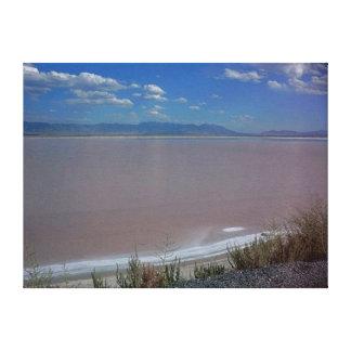 Utah Salt Flats A Stretched Canvas Prints