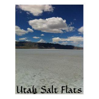 Utah Salt Flats Landscape Postcard