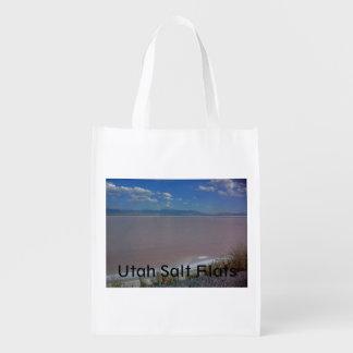 Utah Salt Flats Reusable Grocery Bag