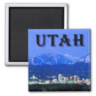 Utah, Salt Lake City 2 Inch Square Magnet
