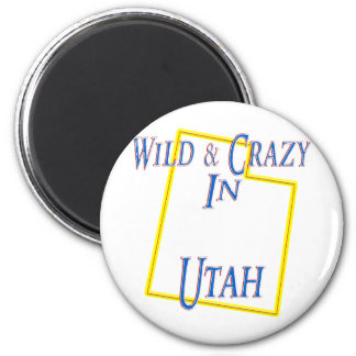 Utah - salvaje y loco imán redondo 5 cm