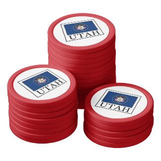 Utah Set Of Poker Chips