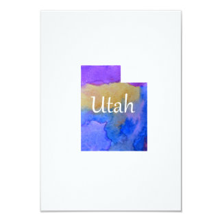 Utah silhouette card