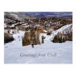 Utah Skiing Post Card