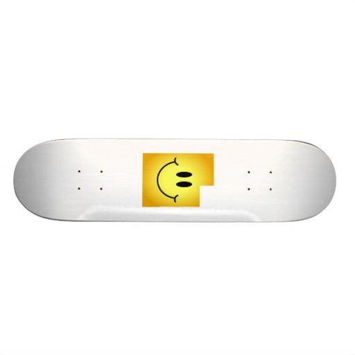 Utah Smiley Face Custom Skate Board