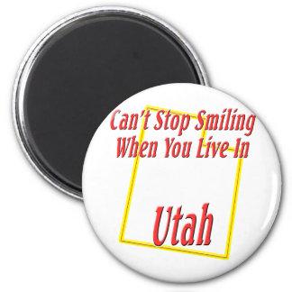 Utah - sonriendo imán redondo 5 cm