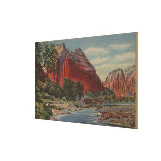 Utah - soporte majestuoso y el aterrizaje del ánge impresion de lienzo