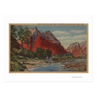 Utah - soporte majestuoso y el aterrizaje del tarjeta postal