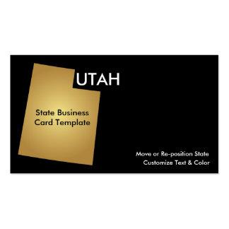 Utah State Business Card Metallic Gold