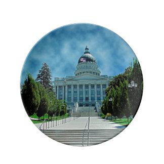 Utah State Capitol Porcelain Plates
