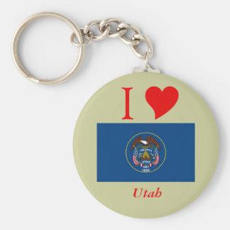 Utah State Flag Keychain