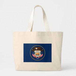 Utah State Flag Large Tote Bag