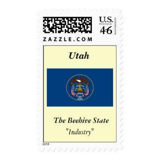 Utah State Flag Postage Stamp