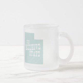 Utah State Motto Slogan Frosted Glass Coffee Mug
