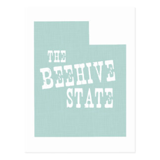 Utah State Motto Slogan Postcard