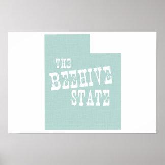 Utah State Motto Slogan Poster