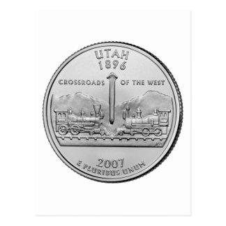 Utah State Quarter Postcard