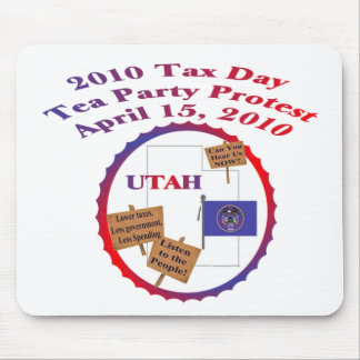 Utah Tax Day Tea Party Protest Mouse Pad