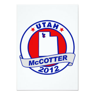 Utah Thad McCotter 5x7 Paper Invitation Card