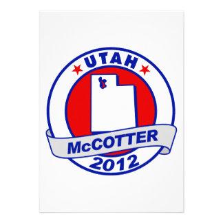 Utah Thad McCotter Invitations