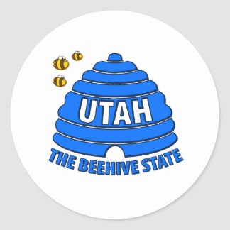 Utah: The Beehive State Classic Round Sticker