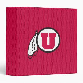 Utah U Circle and Feathers 3 Ring Binder