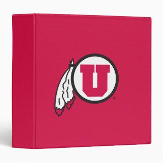 Utah U Circle and Feathers Binder