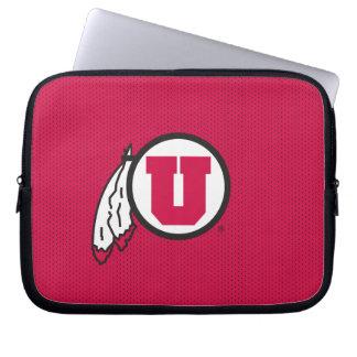 Utah U Circle and Feathers Computer Sleeve