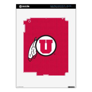 Utah U Circle and Feathers iPad 3 Decal