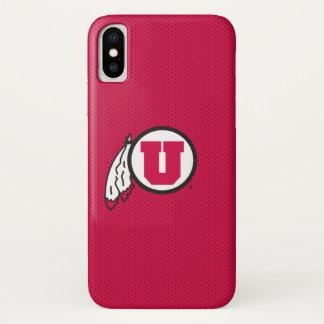 Utah U Circle and Feathers iPhone X Case