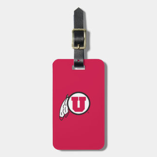 Utah U Circle and Feathers Luggage Tag