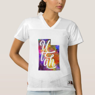 Utah U.S. State in watercolor text cut out
