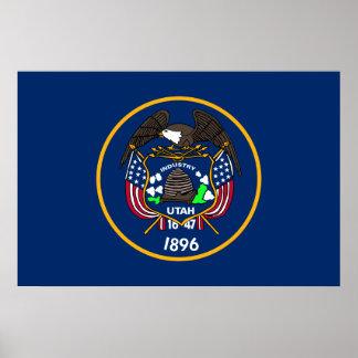 Utah, United States flag Poster
