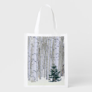 UTAH. USA. Aspen (Populus tremuloides) & Douglas Grocery Bag
