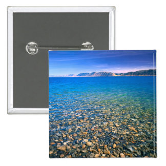 UTAH. USA. Clear water of Bear Lake reveals Pinback Buttons
