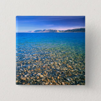 UTAH. USA. Clear water of Bear Lake reveals Pinback Button